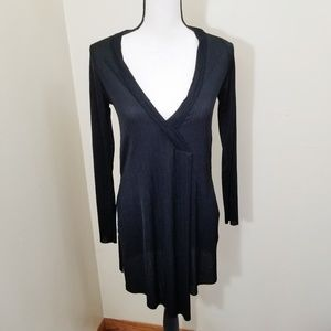 Zara Long Sleeve Split Side Faux Wrap Tunic Small